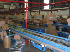 Overhead Monorail Conveying Stystem in Textile Industry